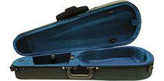 "Bellafina Model 40 Viola Case 15.5 in.  Super lightweight case features 2 bow holders, accessory pocket, 2 adjustable shoulder straps (backpack straps) and blanket  Black Exterior, Blue Interior  Available in 15"", 15 1/2"", 16"" sizes  Super lightweight case features 2 bow holders, accessory pocket, 2 adjustable shoulder straps (backpack straps), blanket, and ""subway/bus"" handle on end of case"