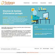 Nouveau site Internet de Solago #nantes #wordpress http://www.solago.com