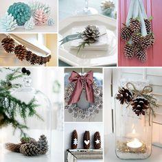 9x Feestelijk decoreren met dennenappels White Christmas, Xmas, Seasons Activities, Christmas Decorations, Table Decorations, Hobbies And Crafts, Pine Cones, Interior Design, Home Decor