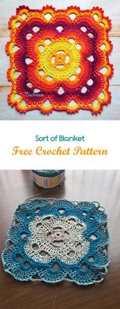 Sort of Blanket Free Crochet Pattern #crochet #yarn #crafts #homedecor #style #homemade