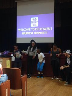 At Kid Power, Inc., Students make their final business pitch for their line of hot sauce at the #FamilyHarvestDinner #summerlearning