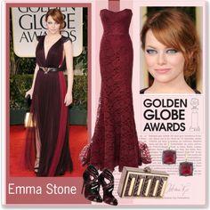 emma in golden globe by room-13 on Polyvore featuring moda, Monique Lhuillier, Dolce&Gabbana, Lolita Lorenzo, Larkspur & Hawk, Lanvin and goldenglobefashion