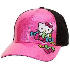 Hello Kitty Girls Baseball Cap - Pink and Black