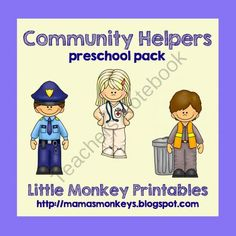 Community Helpers Preschool Pack from LittleMonkeyPrintables on TeachersNotebook.com -  (47 pages)  - Community Helpers Preschool Pack