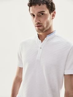 9676dd34a680d Spring summer 2017 Men´s POLO SHIRT WITH DIAMOND TEXTURED WEAVE at Massimo  Dutti for 29.95. Effortless elegance!