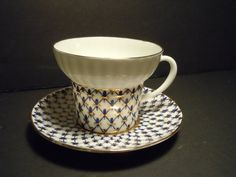 LOMONOSOV Russian Porcelain Gilt Tea Cup by MSMUnlimited on Etsy, $65.00