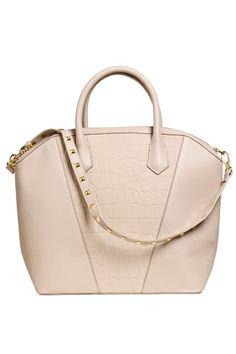 H&M New Icon Bag Nude Faux Crocodile Leather