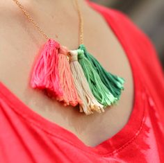 How to Make a Tassel Necklace - Step Seven #jewellerymaking #jewellery #diy #tassels
