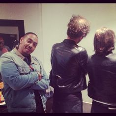 @chaceinfinite with Daft Punk in Paris, France. Of course they wouldn't show their face. -- Aaaahh envy!!!!