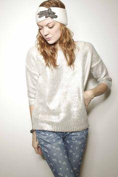 Metallic Foil Sweater