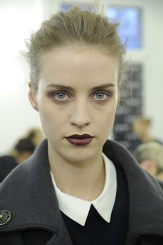 Anthony Vaccarello - deep purple statement lip