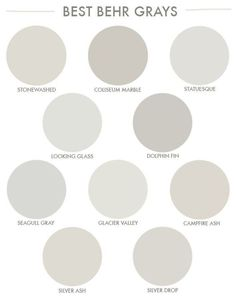 Behr Gray Paint, Behr Paint Colors, Bedroom Paint Colors, Neutral Paint, Neutral Colors, Kitchen Paint Colors, Paint Colors For Home, House Colors, Gray Kitchen Walls