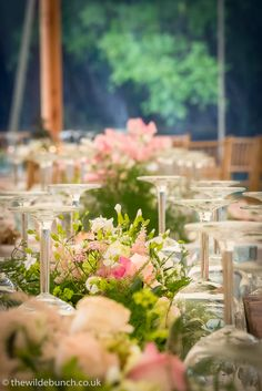 Marquee Wedding, Table Centers, Garland, Wedding Flowers, Tables, Weddings, Table Decorations, Summer, Design