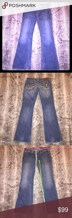 "EUC Big Star Sweet ultra low rise Jeans 29L Long Excellent preowned condition. Big Star Boot Cut Or Flare leg jeans. Size 29 L Long. Back flap pockets. Measurements in photos to help assist with fit. Sorry about the high price. They're my favorite jeans and hoping to get back into them by summer. Listing them here in case I don't. Inseam is approximately 32"". Big Star Jeans Boot Cut"