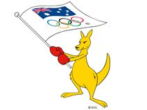 Boxing Kangaroo...of course...  WE LOVE THE OLYMPICS