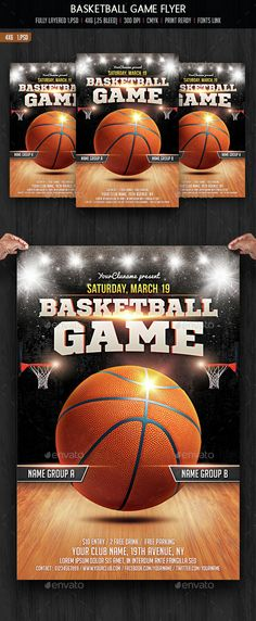 Basketball Game Flyer Template PSD. Download here: http://graphicriver.net/item/basketball-game-flyer/14832254?ref=ksioks