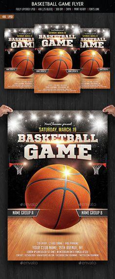 basketball templates Basketball Match Brochure Template Design - basketball flyer example