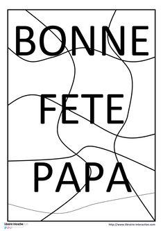 Un puzzle 15 pièces pour la fête des pères.