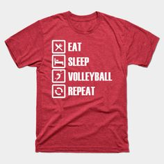 Eat Sleep Volleyball Repeat by creativoplus