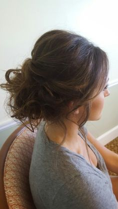 Messy textured florida wedding updo More