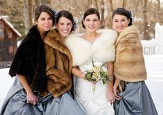 #winter #wedding #bridesmaids