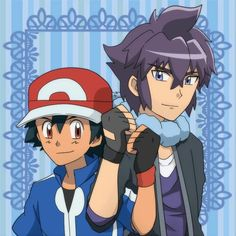 Ash Ketchum and Alain ^.^ ♡ I give good credit to whoever made this
