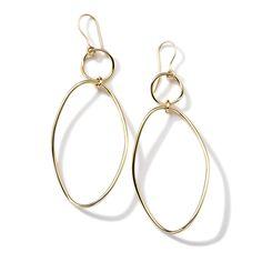 Glamazon® 18K Gold Simple Wavy Snowman Earrings