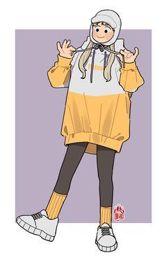 불곰[62] (@mannerer62) / Twitter Cute Art Styles, Cartoon Art Styles, Character Drawing, Character Illustration, Arte Sketchbook, Image Manga, Art Reference Poses, Cute Cartoon Wallpapers, Pretty Art