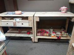 """Bancão para fogão e pia....tudo com material reciclado """"palete"""". By Isa Perinotto"""