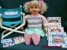 Cricket Doll from the 80s. One of my fondest Christmas mornings was waking up to this whole set! I couldn't believe my eyes! I LOVED THIS DOLL!