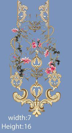 Textile Prints, Textile Design, Textiles, Flowers Nature, Diy Flowers, Pattern Art, Pattern Design, Gala Design, Flower Art Images