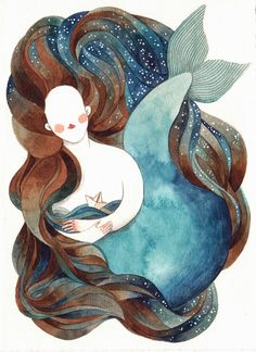 Gemma Capdevila: 24/60 #mermaid #watercolor
