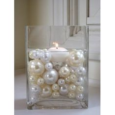 pearl centerpiece...simple yet elegant