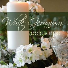 I think I am geranium crazy this year. First it was red - and now I have found white geraniums I have used to create a summer tablescape.