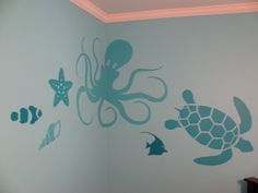 Way cute under the sea wall decals
