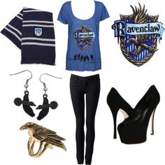 Ravenclaw  fangirl outfit, casual - including links where to get the shown items