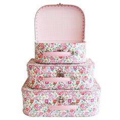Suitcase Set in Petit Floral