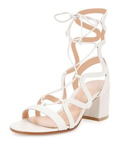Metallic+Loop-Caged+Gladiator+Sandal,+Off+White+by+Gianvito+Rossi+at+Bergdorf+Goodman.