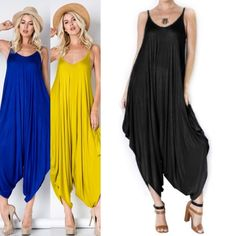 JESSIE boho chic jumper - BLACK/ROYAL BLUE Spaghetti String Jumpsuit - only black & Royal blue available  95% Rayon  5% Spandex  NO TRADE PRICE FIRM Bellanblue Pants Jumpsuits & Rompers