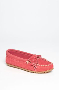 Minnetonka 'Kilty' Suede Moccasin available at Nordstrom. I LOVE. and they are on their way :)
