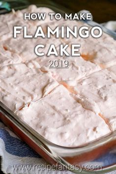 If the name didn't hook you, the hot pink, amazing-tasting cake itself will. But really, pink flamingo cake, how could anyone resist it? This candy-colored con Beaux Desserts, 13 Desserts, Delicious Desserts, Yummy Food, Tasty, Angel Food Cake Desserts, Cake Mix Desserts, Dessert Food, Healthy Food