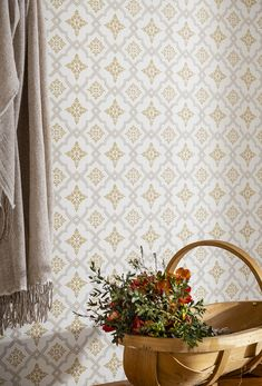 Swedish Wallpaper, Scandinavian Wallpaper, Interior Wallpaper, Modern Wallpaper, Swedish Cottage, Cottage Style, Retro Tapet, Sweden House, Home Reno