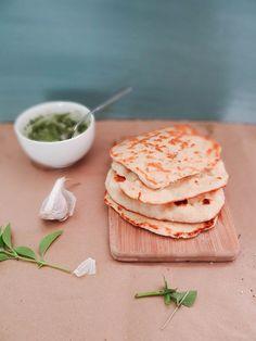 Homemade garlic naan - in 5 minutes