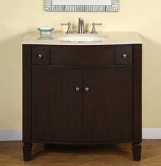"""Bathroom Vanity Single Sink Victorian Vanity LUX-0934-36: 36""""W x 22""""D x 36""""H"""