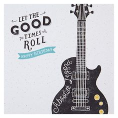Buy Hotchpotch Guitar Birthday Card Online at johnlewis.com