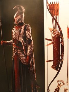 "3rd Age Elven Armor as seen from ""The Hobbit: An Unexpected Journey"" (2013). The design of the armor intentionally bridges its predecessors as seen from ""Lord of the Rings: The Fellowship of the Ring"" (2001) and ""Lord of the Rings: The Two Towers"" (2002)."