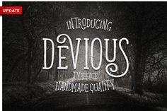 Devious Typeface by Graptail on @creativemarket