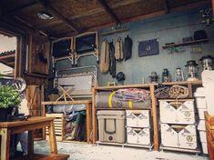 Diy Camping, Camping Gear, Garage Interior, Outdoor Gear, Decor Styles, Rustic, Interior Design, Bushcraft, Storage