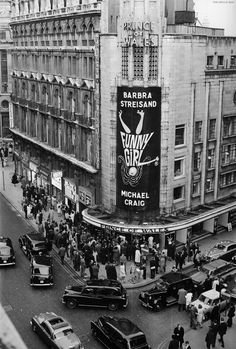 Opening night of the stage production of Funny Girl at the Prince of Wales Theater in London, 1966.