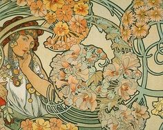 One of my favorite artists. Such beautiful work. I love Art Nouveau! A lot of people will recognize his work/style but don't realize who he was! Alphonse Mucha: http://www.muchafoundation.org/MFoundation.aspx